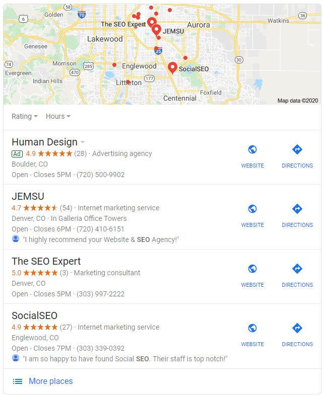 Local SEO Google Maps Pack