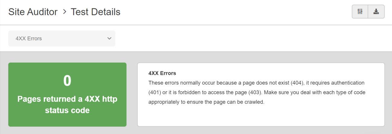 SEO Checker 4XX Errors
