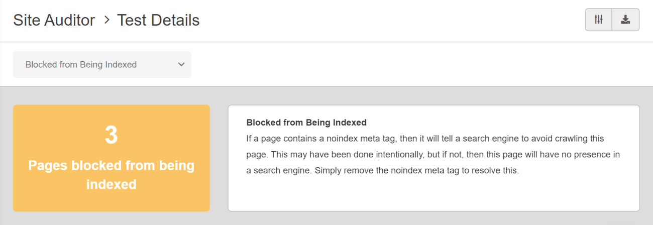 SEO Checker Blocked from Being Indexed