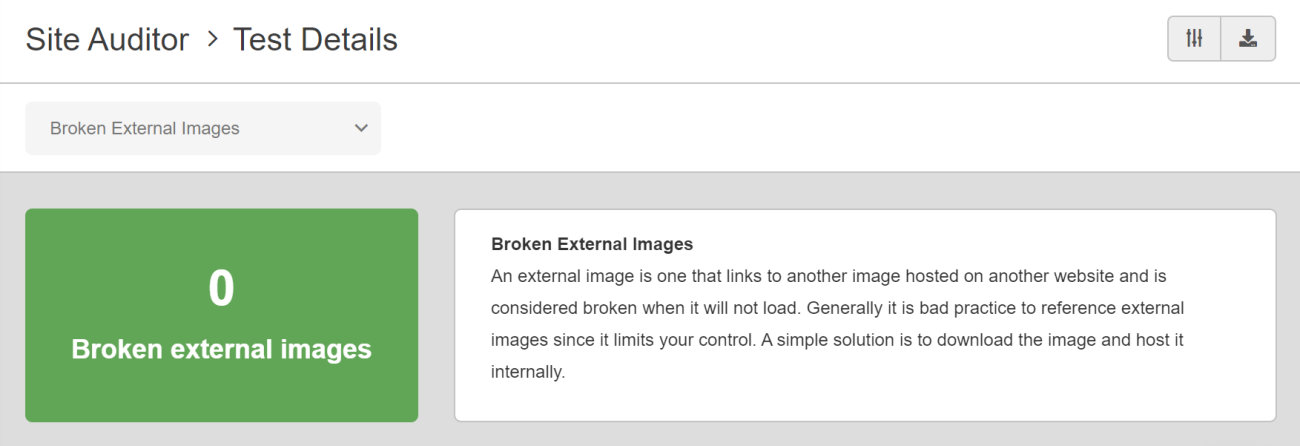 SEO Checker Broken External Images