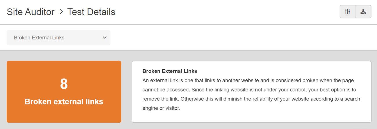 SEO Checker Broken External Links