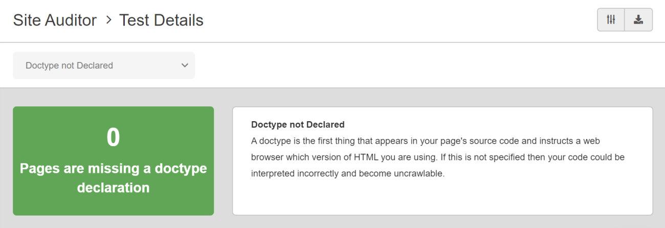 SEO Checker Doctype Not Declared
