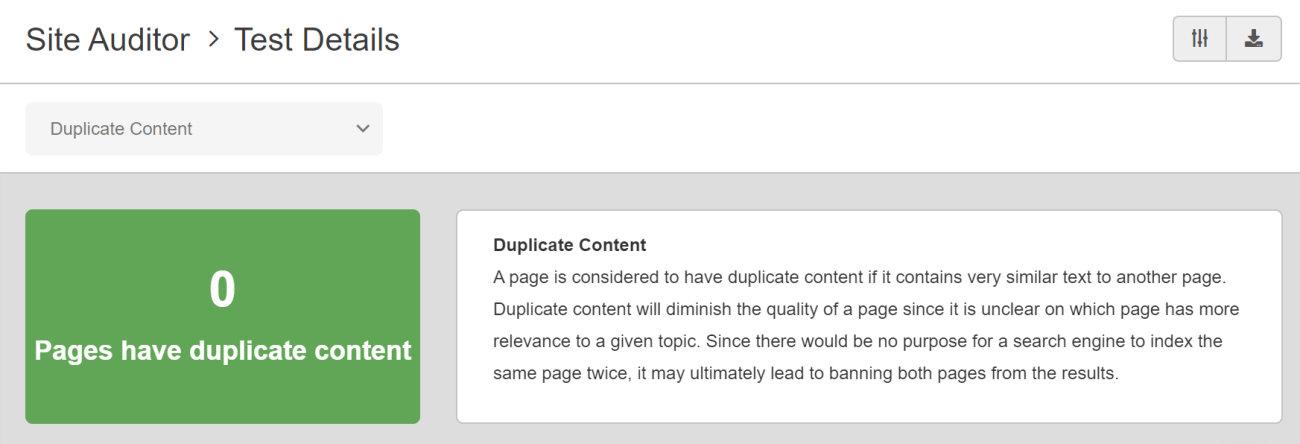 SEO Checker Duplicate Content