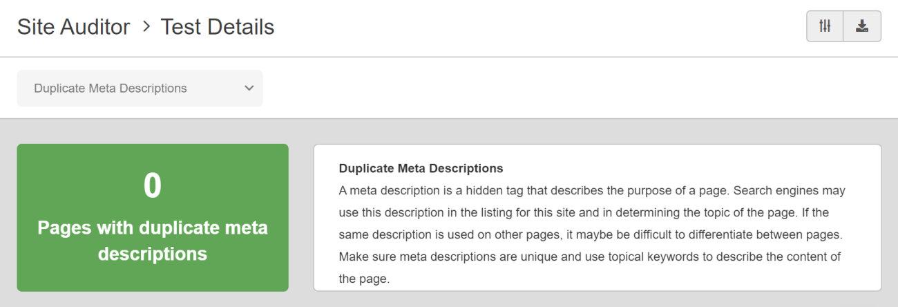 SEO Checker Duplicate Meta Descriptions