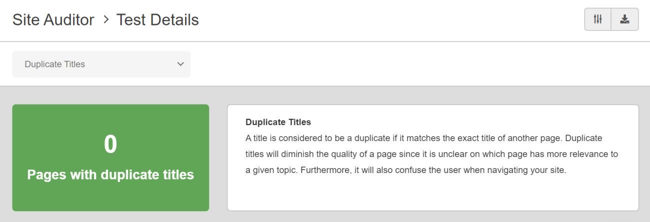 SEO Checker Duplicate Title Tags