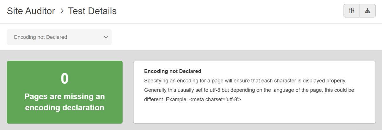 SEO Checker Encoding Not Declared