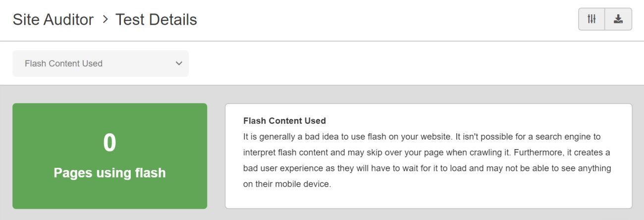 SEO Checker Flash Content