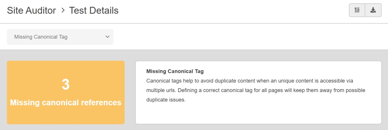 SEO Checker Missing Canonical Tag