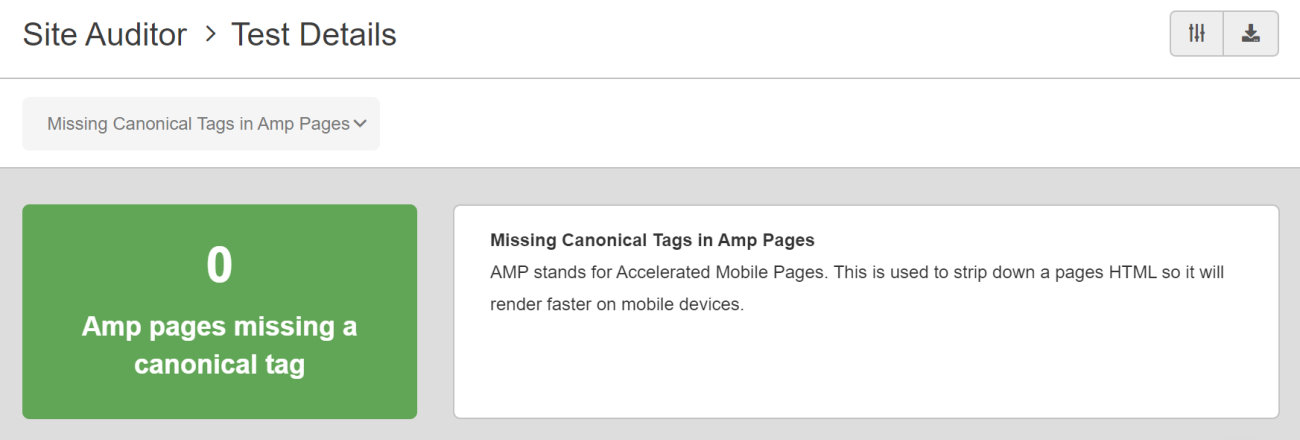 SEO Checker Missing Canonical Tags in AMP Pages