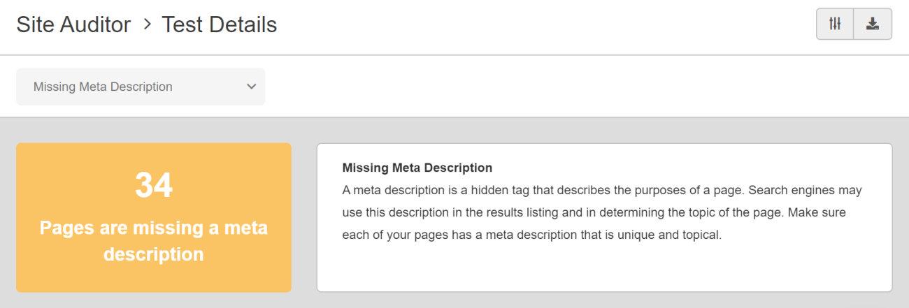 SEO Checker Missing Meta Description