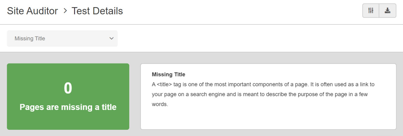 SEO Checker Missing Title