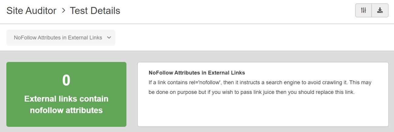 SEO Checker NoFollow Attribute in External Links