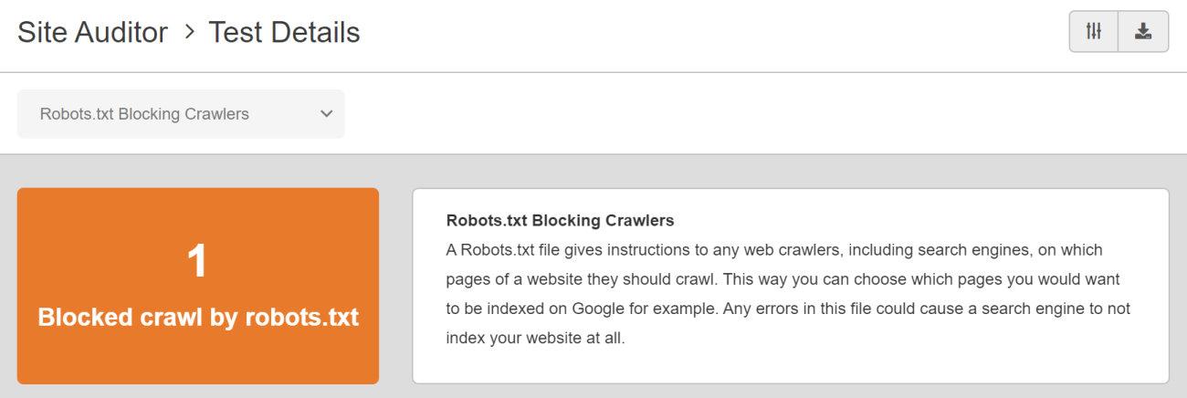 SEO Checker Robots.txt Blocking Crawlers