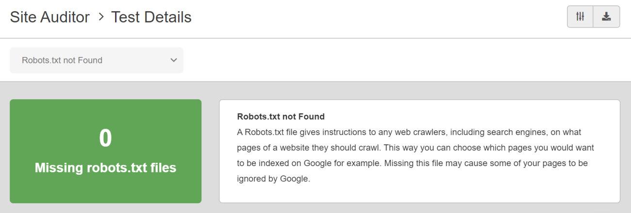 SEO Checker Robots.txt Not Found