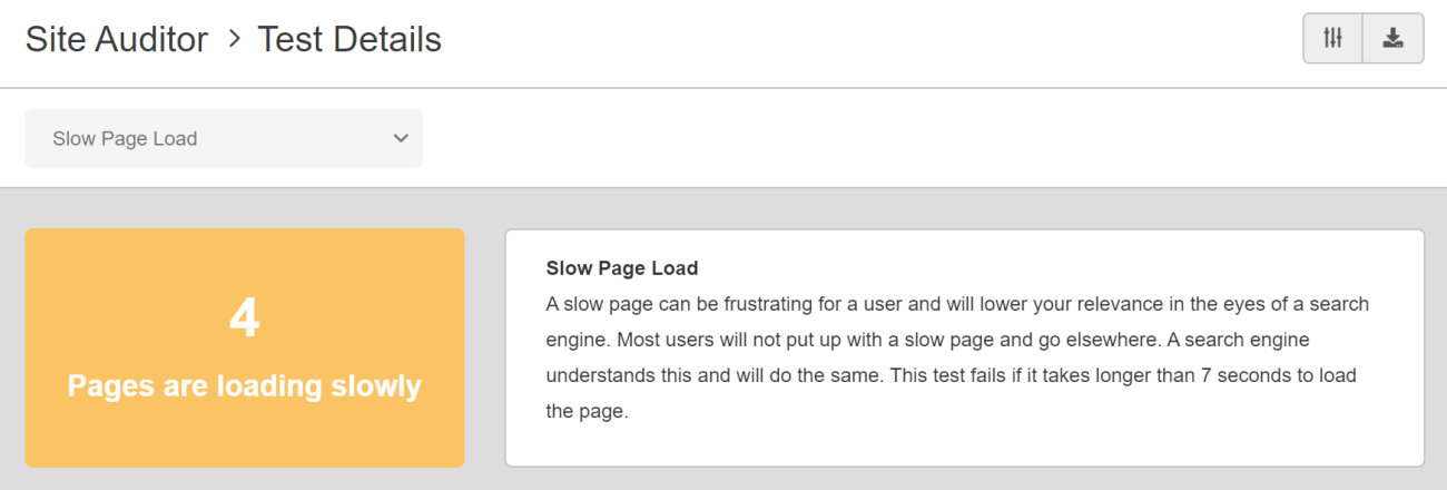 SEO Checker Slow Page Load