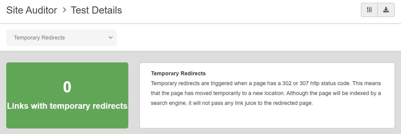 SEO Checker Temporary Redirects