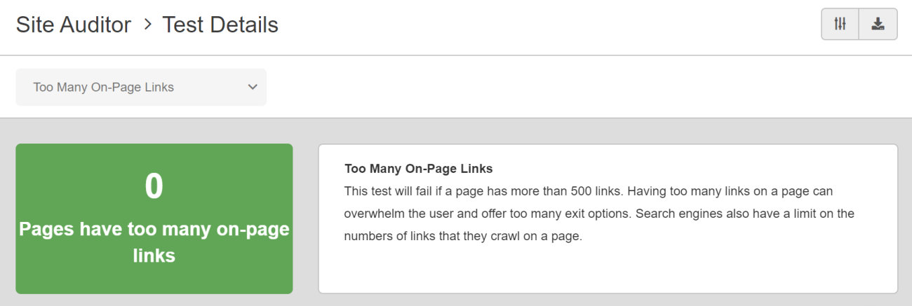 SEO Checker Too Many On-Page Links