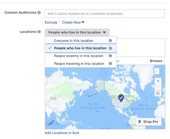 Facebook Advertising Locations