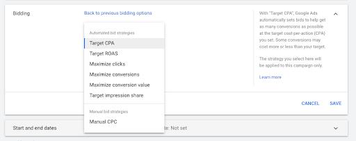 Google Ads Smart Bidding Strategy